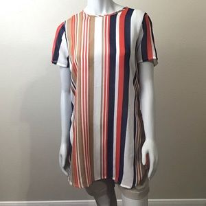 3/$25 SALE  Stripe Truth NYC sheer blouse